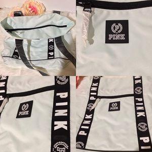 Victoria Secret Logo Pink Travel Zip Up Tote Bag